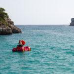 Tretboot in der Cala Mondragó