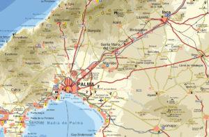 Mallorca Karte Umriss.Karte Der Insel Mallorca Mallorca Vielfaltige Perle